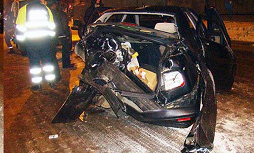 Минск: Lancia Kappa выехала на встречную и столкнулась с Hyundai Terracan