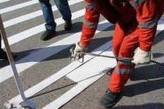 С 7 по 9 мая в Минске на некоторых улицах будет наноситься дорожная разметка