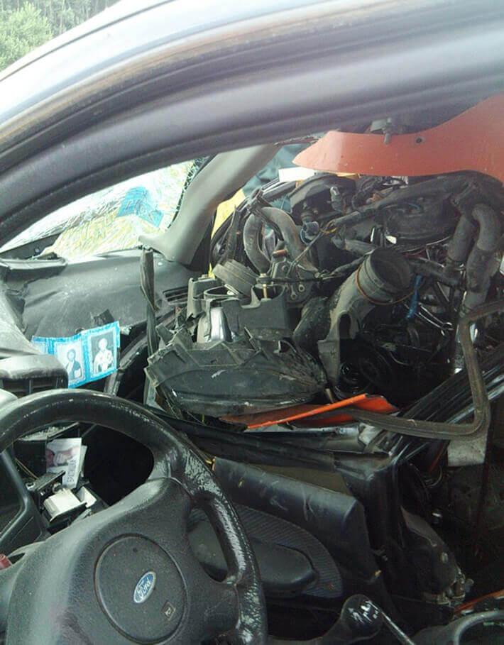 В Минском районе Yamaha врезался в Ford Sierra  мотоциклист погиб