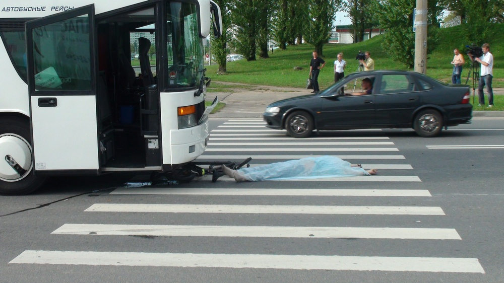 В Минске автобус сбил насмерть велосипедиста