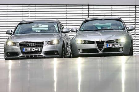 Alfa Romeo 159 Sportwagon и Audi A4 Avant: динамика и итальянская страсть против надежности и немецкой точности