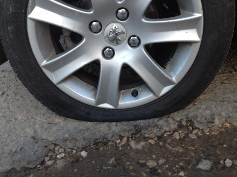 Спущенное колесо