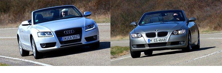 Сравнительный тест автомобилей Audi A5 Cabriolet 2.0 TDI и BMW 320d Cabrio