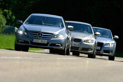 Сравнительный тест автомобилей Audi A5 3.2 FSI, BMW 335i Coupé и Mercedes E 350 CGI
