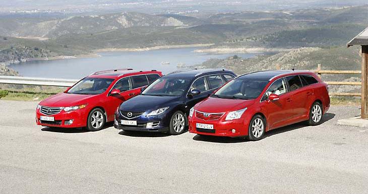 Сравнительный тест автомобилей Honda Accord Tourer, Mazda6 Wagon и Toyota Avensis Cross Sport