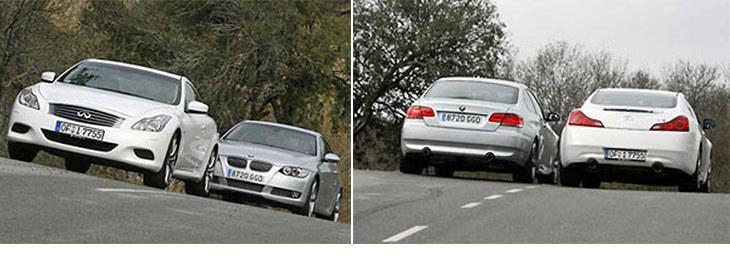Сравнительный тест автомобилей Infiniti G37 Сoupe S и BMW 335i Сoupe