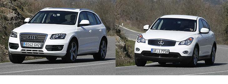 Сравнительный тест автомобилей Infiniti EX37 GT и Audi Q5 3,2 FSi Quattro S tronic