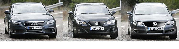 Сравнительный тест автомобилей Seat Exeo, Audi A4 и VW Passat