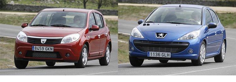 Сравнительный тест автомобилей Dacia Sandero и Peugeot 206+
