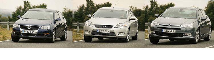Сравнительный тест автомобилей Citroën C5, Ford Mondeo и Volkswagen Passat