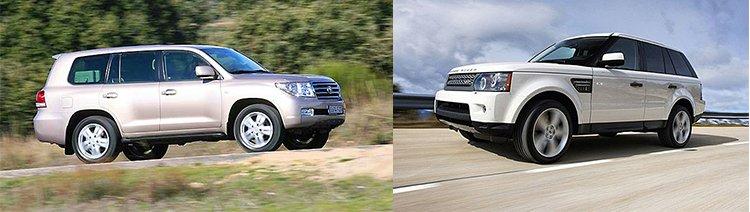 Сравнительный тест автомобилей Range Rover Sport и Toyota Land Cruiser 200