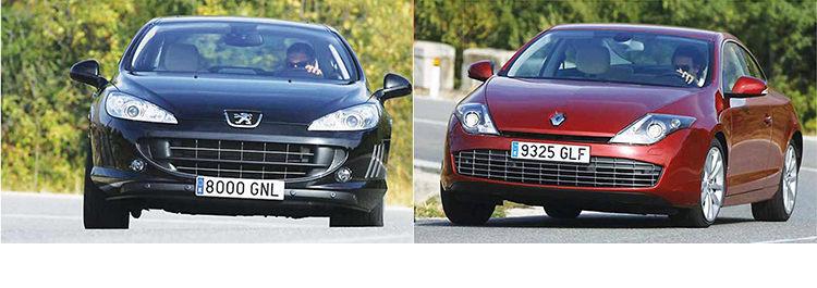 Сравнительный тест автомобилей Peugeot 407 Coupé и Renault Laguna Coupé