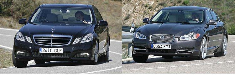 Сравнительный тест автомобилей Jaguar XF Mercedes E 350 CDi BlueEFFICIENCY
