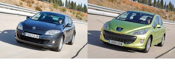 Сравнительный тест автомобилей Renault Megane и Peugeot 308