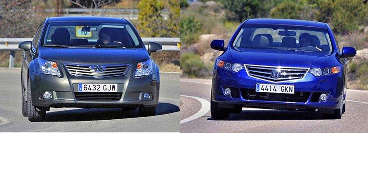 Сравнительный тест автомобилей Honda Accord и Toyota Avensis