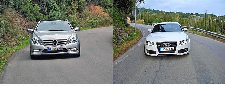 Сравнительный тест автомобилей Audi A5 и Mercedes E-Klasse Coupе