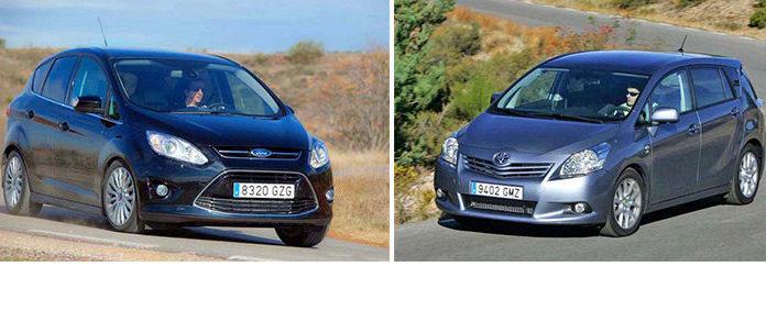 Сравнительный тест автомобилей Ford C-Max и Toyota Verso