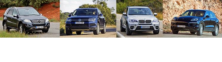 Сравнительный тест автомобилей BMW X5, Mercedes ML, Porsche Cayenne и Volkswagen Touareg