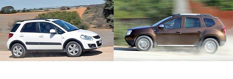 Народные кроссоверы: Dacia Duster и Suzuki SX4