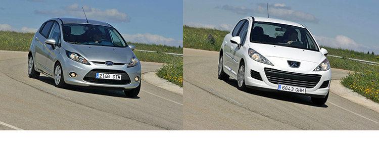 Сравнительный тест автомобилей Ford Fiesta и Peugeot 207