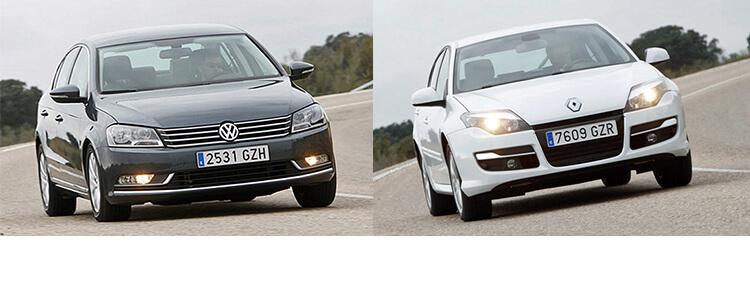 Сравнительный тест автомобилей Renault Laguna и Volkswagen Passat