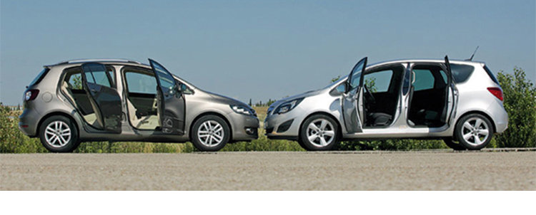 Сравнительный тест автомобилей Opel Meriva и Vоlkswagen Golf Plus