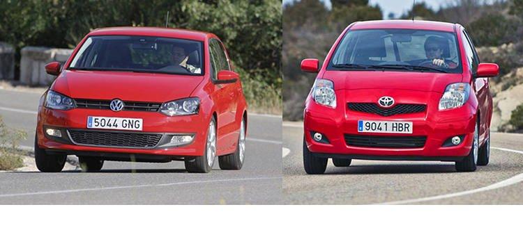 Сравнительный тест автомобилей Toyota Yaris и Volkswagen Polo