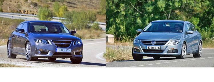 Сравнительный тест автомобилей Saab 9-5 и Volkswagen Passat CC