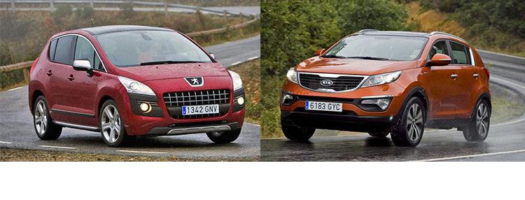 Сравнительный тест автомобилей Kia Sportage и Peugeot 3008