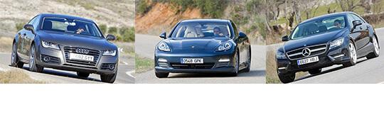 Сравнительный тест автомобилей Audi A7, Mercedes CLS и Porsche Panamera