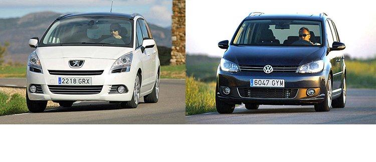 Сравнительный тест автомобилей Volkswagen Touran и Peugeot 5008