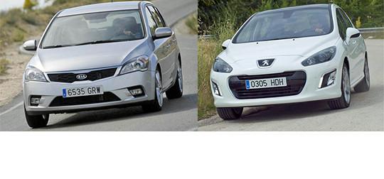 Сравнительный тест автомобилей Kia Ceed и Peugeot 308