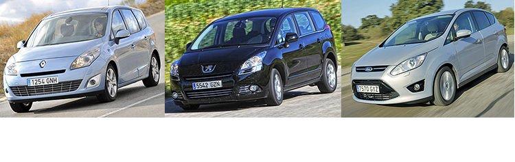 Ford C-Max, Peugeot 5008 и Renault Grand Scenic: рациональный выбор