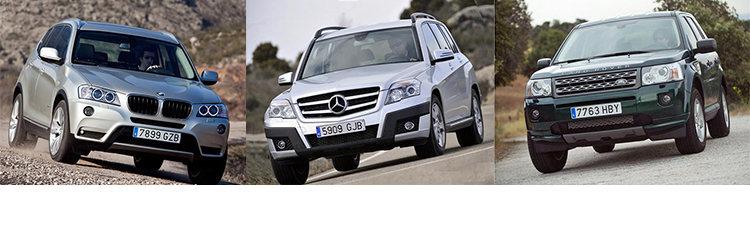 Сравнительный тест автомобилей BMW X3, Land Rover Freelander и Mercedes-Benz GLK