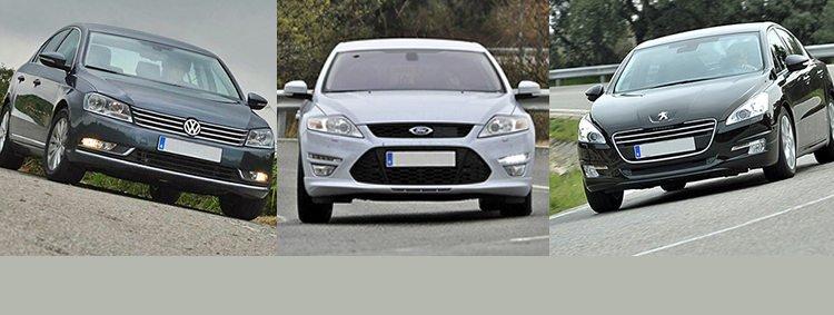 Сравнительный тест автомобилей Ford Mondeo, Peugeot 508 или Volkswagen Passat