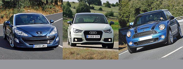 Сравнительный тест автомобилей Audi A1 TFSi S tronic, Mini John Cooper Works (JCW) и Peugeot RCZ