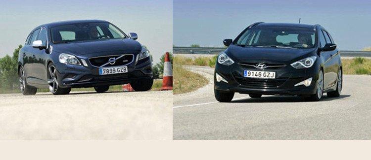 Сравнительный тест автомобилей Hyundai i40 СW и Volvo V60