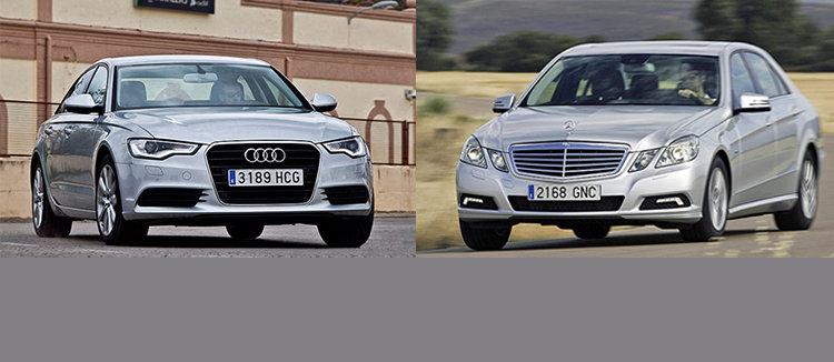 Сравнительный тест автомобилей бизнес-класса Audi A6 и Mercedes E