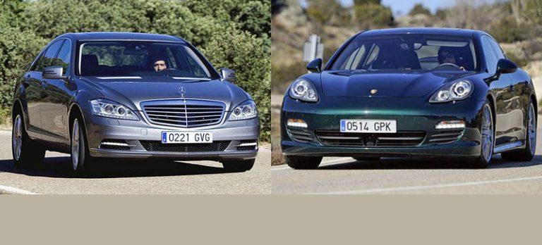 Сравнительный тест автомобилей Mercedes-Benz S-класс 400 Hybrid и Porsche Panamera S Hybrid