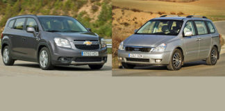 Сравнительный тест Kia Carnival и Chevrolet Orlando