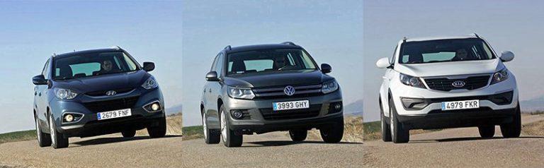 Сравнительный тест автомобилей Hyundai ix35, Kia Sportage и Volkswagen Tiguan