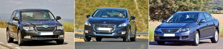 Сравнительный тест автомобилей Peugeot 508, Renault Latitude и Skoda Superb