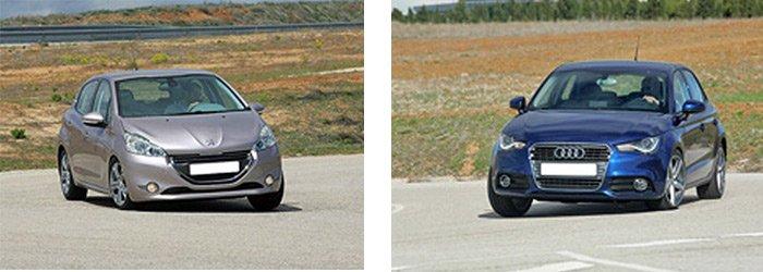 Сравнительный тест автомобилей Audi A1 Sportback и Peugeot 208