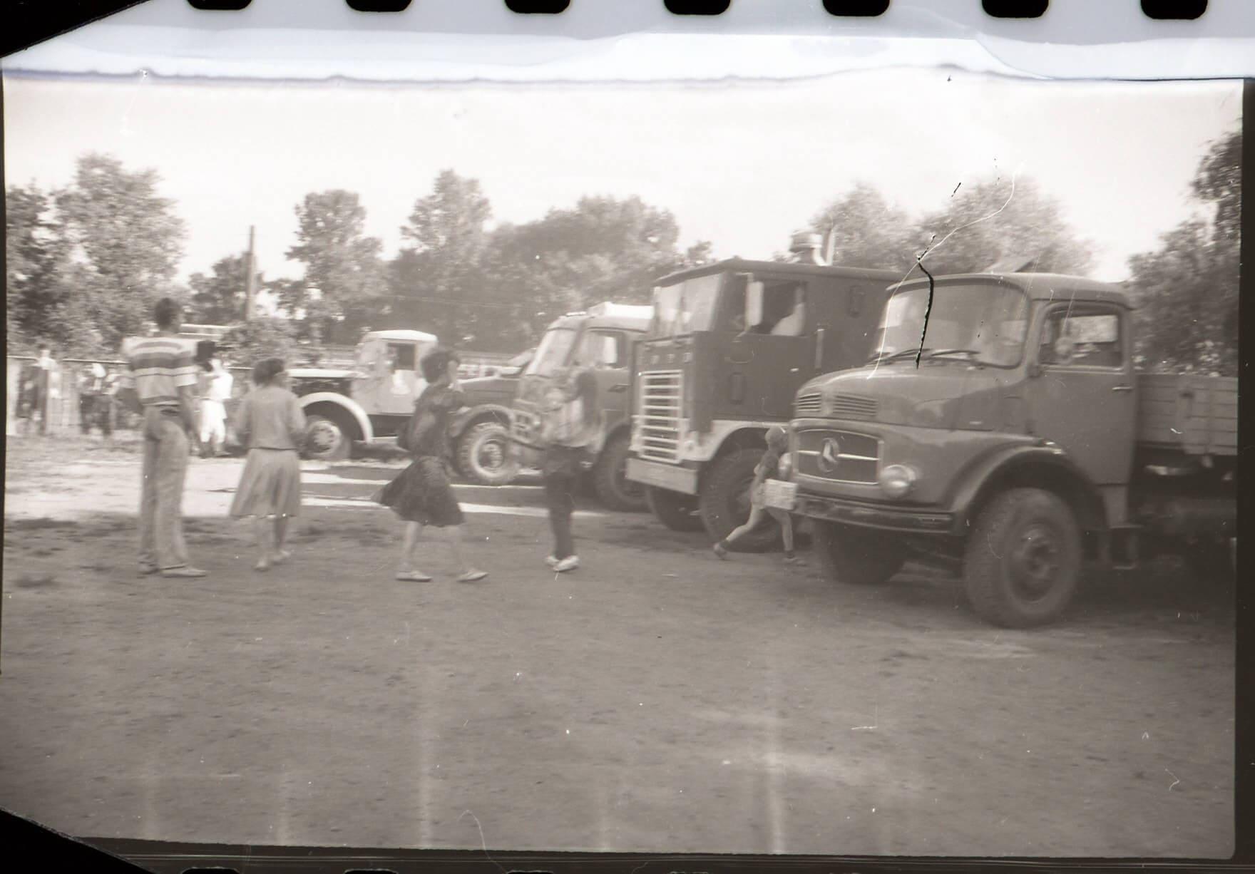 Выставка грузовой автотехники в Минске в советское время
