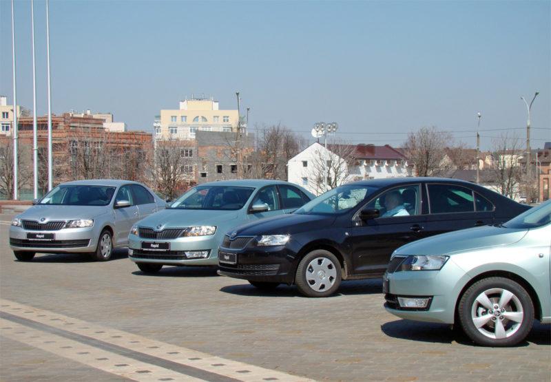 Белорусская премьера бюджетной модели Skoda Rapid