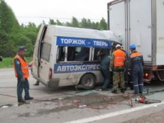 В России маршрутка попала в ДТП