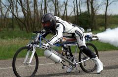 Необычный рекорд 263 км/ч на велосипеде!