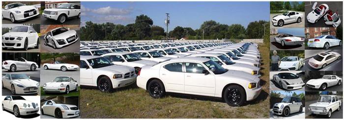 Белый цвет - самый популярный цвет автомобилей в мире