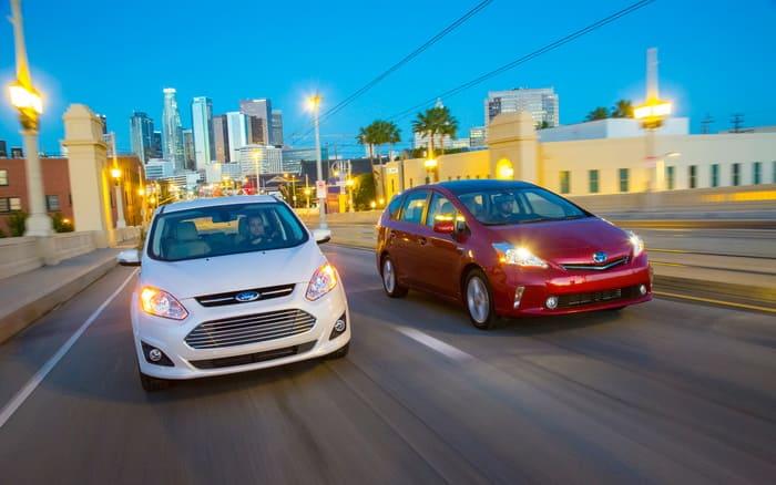 Ford Focus Hybrid и Toyota Prius V