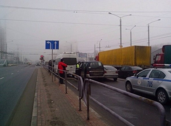 ДТП в Минске с участием Nissan